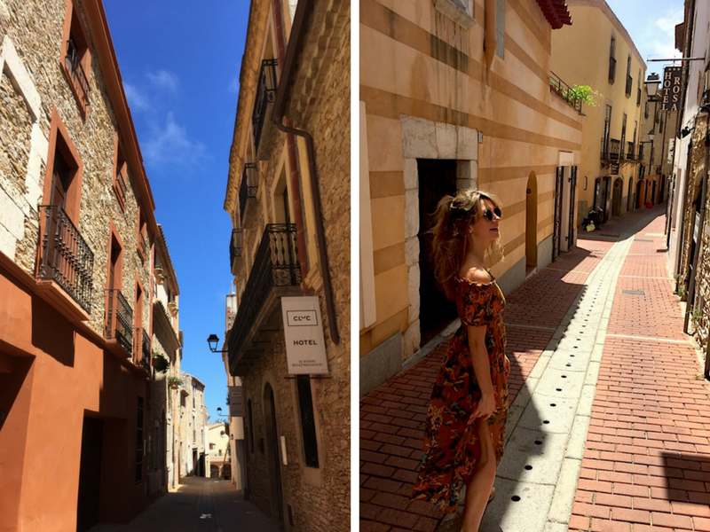 The streets of Begur Spain