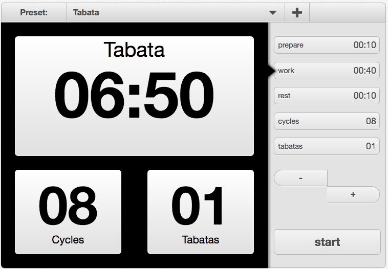 Tabata Timer for skipping
