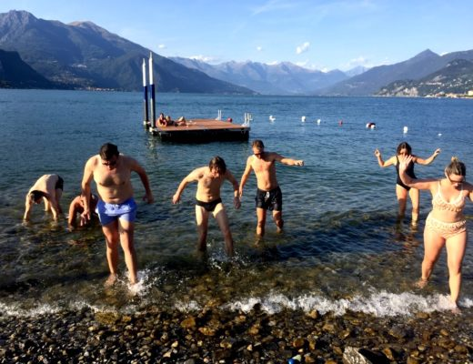 lake como swims
